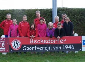 Foto der Laufgruppe vom April 2014